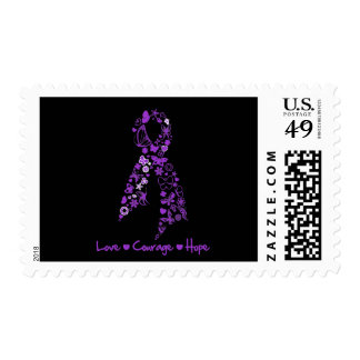 Love Courage Hope Butterfly - GIST Cancer Postage Stamps