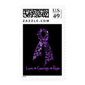 Love Courage Hope Butterfly - GIST Cancer Postage Stamp