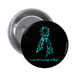 Love Courage Hope Butterfly -  Gynecologic Cancer Pin
