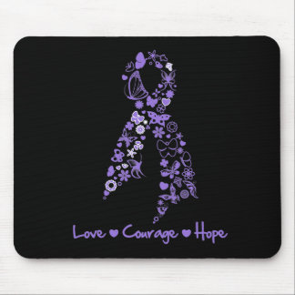 Love Courage Hope Butterfly - Hodgkins Lymphoma Mousepads