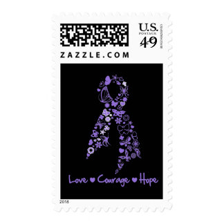 Love Courage Hope Butterfly - Hodgkins Lymphoma Stamp