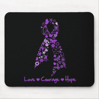 Love Courage Hope Butterfly - Leiomyosarcoma Mouse Pads