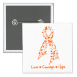 Love Courage Hope Butterfly - Leukemia Pins
