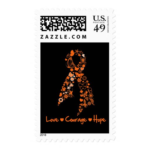 Love Courage Hope Butterfly - Leukemia Postage