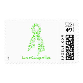 Love Courage Hope Butterfly - Non-Hodgkins Lymphom Stamps