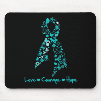 Love Courage Hope Butterfly - Ovarian Cancer Mouse Pad