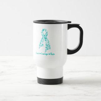 Love Courage Hope Butterfly - Ovarian Cancer Coffee Mug