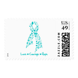 Love Courage Hope Butterfly - Ovarian Cancer Postage Stamp