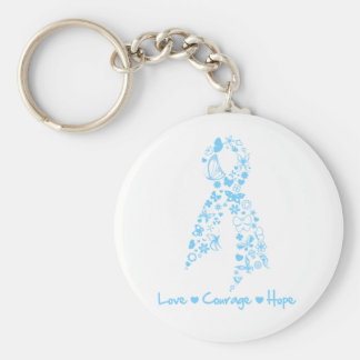 Love Courage Hope Butterfly - Prostate Cancer Keychains