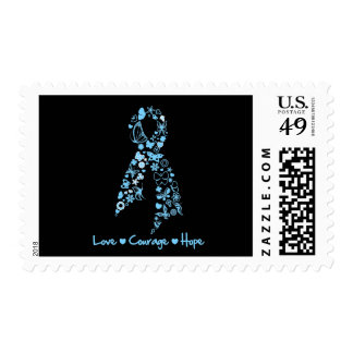 Love Courage Hope Butterfly - Prostate Cancer Stamp