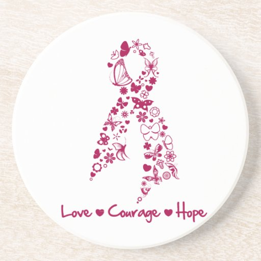 Love Courage Hope Hereditary Hemochromatosis Drink Coasters