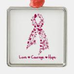 Love Courage Hope Hereditary Hemochromatosis Christmas Ornaments