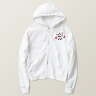 Love Cow Embroidered Hoodie