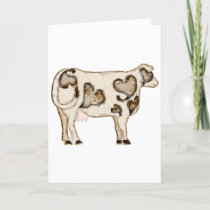 Love Cow Holiday Card
