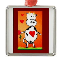 love cow metal ornament