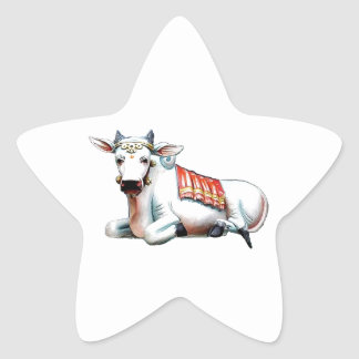 Love Cow Star Sticker