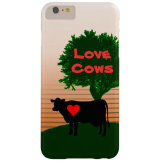 Love Cows- Cow Silhouette with Lone Tree Barely There iPhone 6 Plus Case