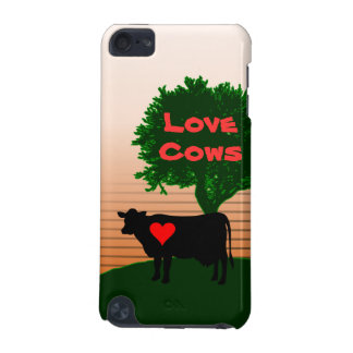 Love Cows- Cow Silhouette with Lone Tree iPod Touch (5th Generation) Case