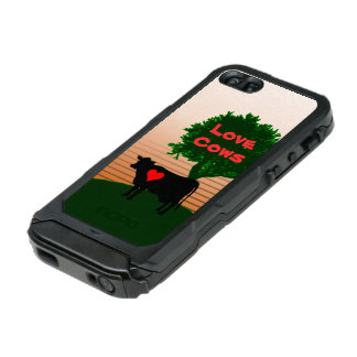 Love Cows- Cow Silhouette with Lone Tree Incipio ATLAS ID™ iPhone 5 Case