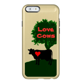 Love Cows- Cow Silhouette with Lone Tree Incipio Feather® Shine iPhone 6 Case