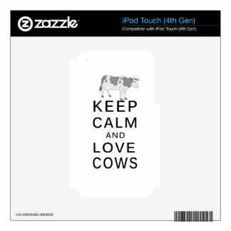 love cows decals for iPod touch 4G