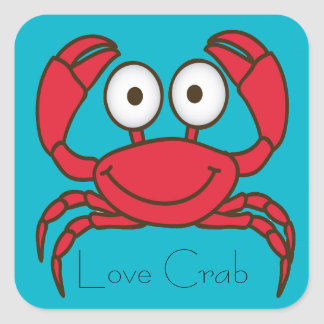 Love Crab Sticker