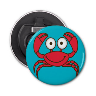 Love Crab Button Bottle Opener