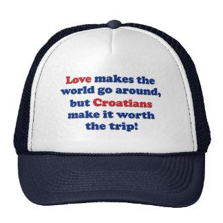 Love Croatians Trucker Hat