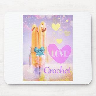Love Crochet Hooks in Mason Jar Photo Design Mouse Pad