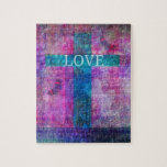 LOVE CROSS WITH BUTTERFLIES JIGSAW PUZZLE