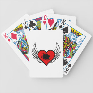 Love Crown Tail Betta Fish Silhouette winged Heart Bicycle Playing Cards