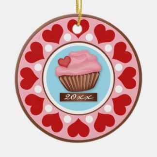 Love & Cupcake Ceramic Tree Ornament