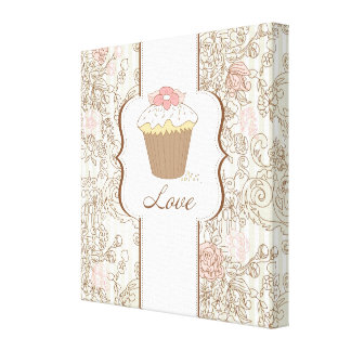 Love Cupcakes Fun Graphic Design Gallery Wrapped Canvas