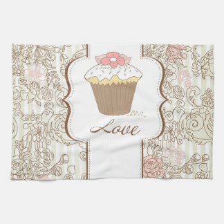 Love Cupcakes Fun Graphic Design Kitchen Towels