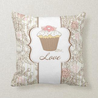 Love Cupcakes Fun Graphic Design Throw Pillow