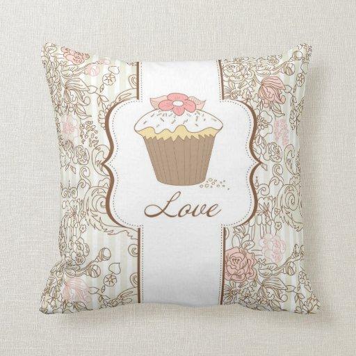 Love Cupcakes Fun Graphic Design Throw Pillow Zazzle