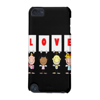 love cupid stick figures different nationalities iPod touch (5th generation) case