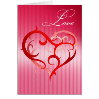 Love - Curlique Heart Greeting Card