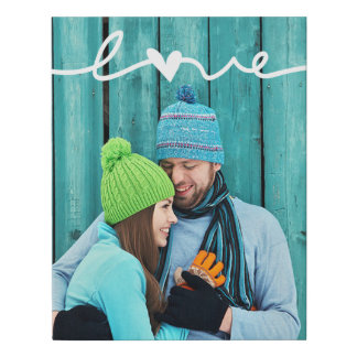 Love Custom Photo   Faux Wrapped Canvas Print
