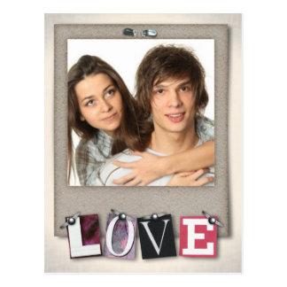 Love Custom photo Postcard
