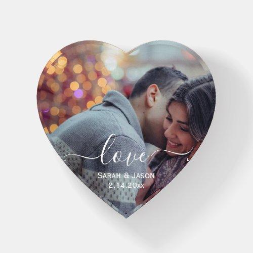 LOVE   Custom Photo Wedding Paperweight