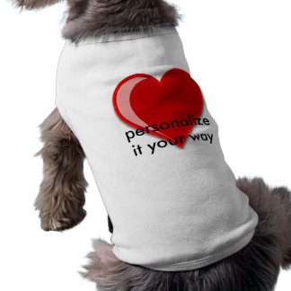 Love - Custom Red Heart Add Your Text Pet Tee