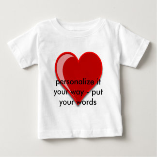 Love - Custom Red Heart Add Your Text Shirt