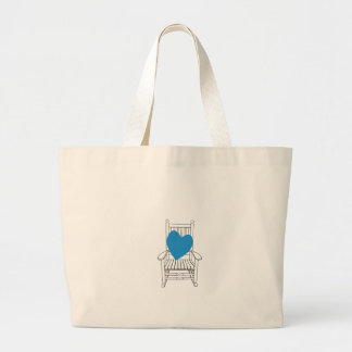 Love (Customizable) Heart Rocking Chair Large Tote Bag