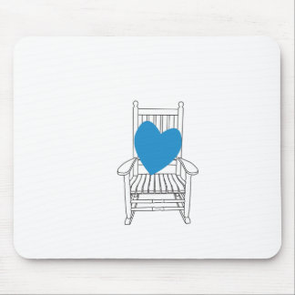 Love (Customizable) Heart Rocking Chair Mouse Pad