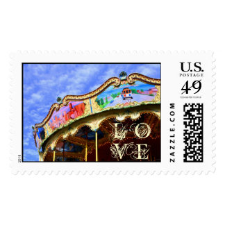 LOVE customizable Merry-Go-Round Stamps