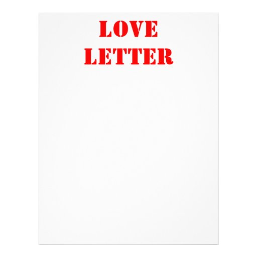 LOVE CUSTOMIZED LETTERHEAD