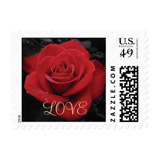 LOVE - Customized Postage Stamp