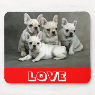Love Cute French Bulldog Puppy Dog Mousepad