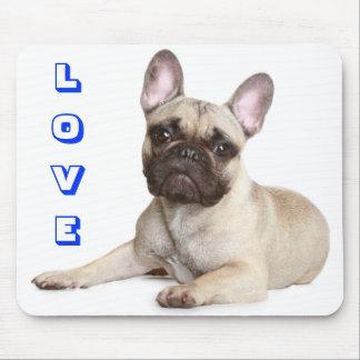 Love Cute French Bulldog Puppy Dog Mousepad